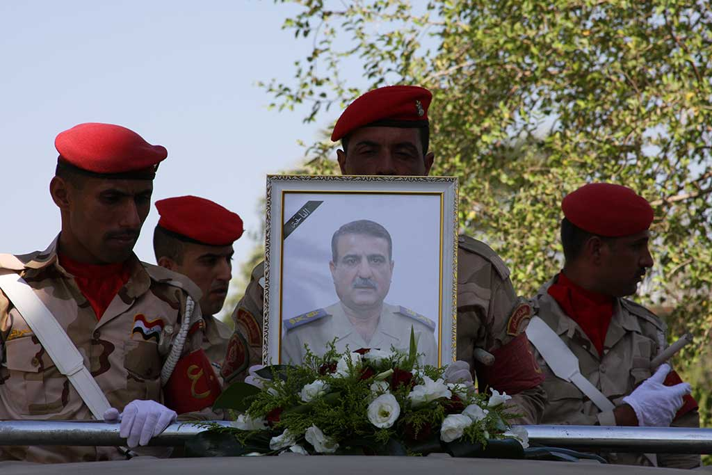 Beisetzung Maj. Gen. Majid Abdul Salam Al-Tamimi in Basra