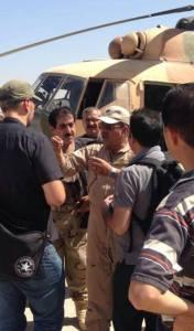 Maj. Gen. Al-Tamimi während einer Rettunsaktion im Shingal-Gebirge