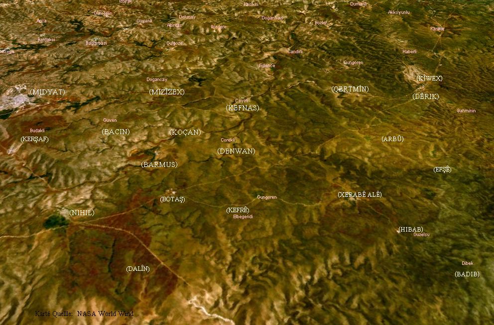 Lage des Dorfes Kefnas